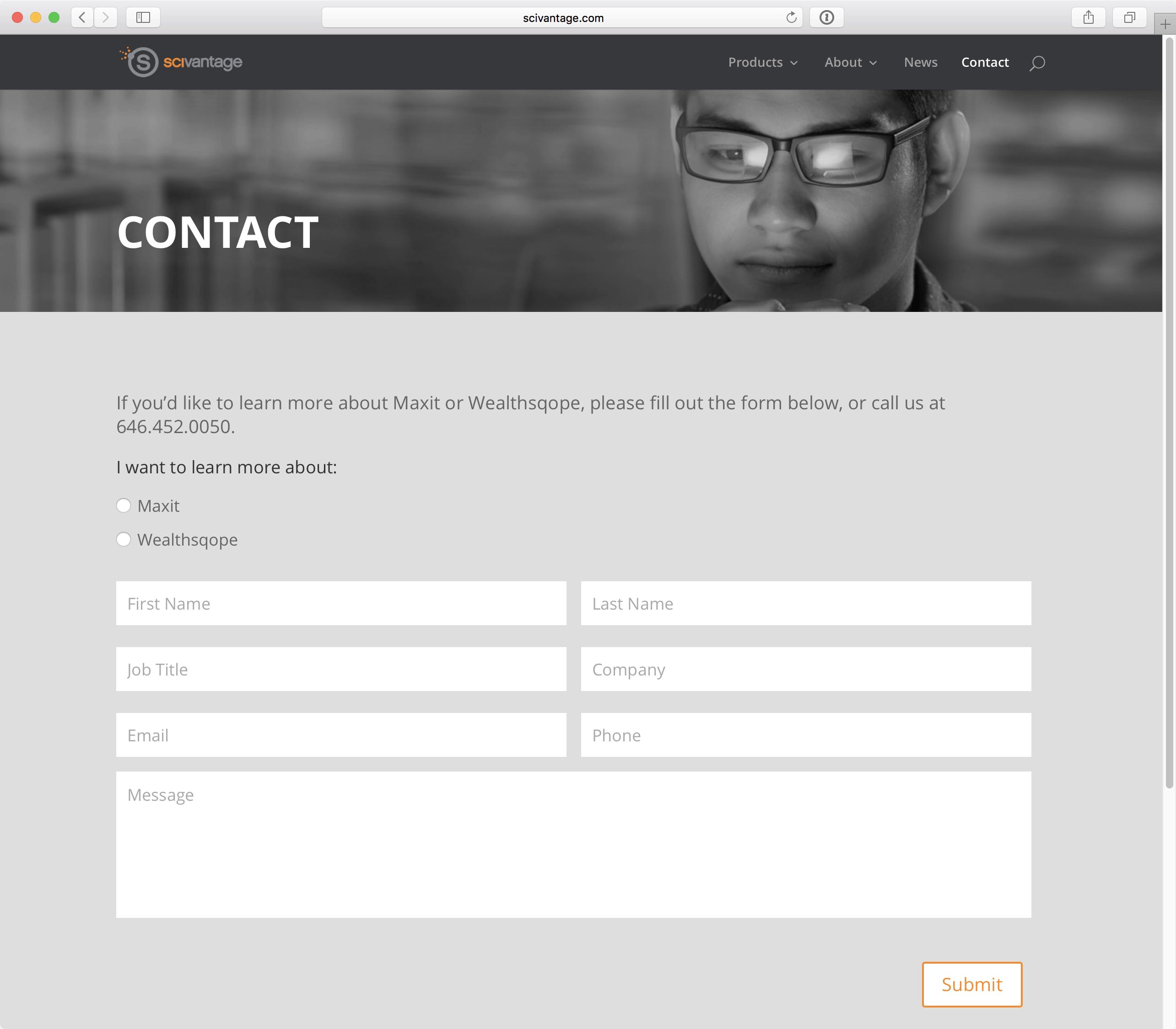 Scivantage 10-Contact